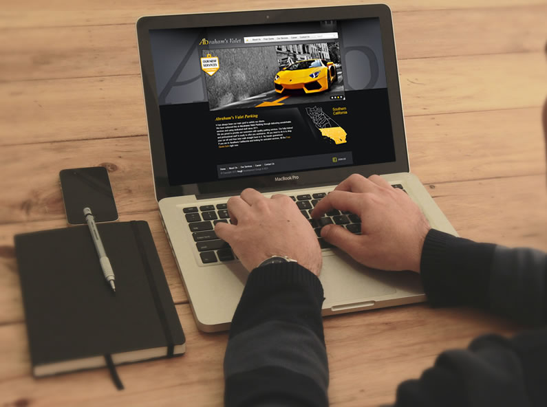 Webdesign for Abraham's Valet