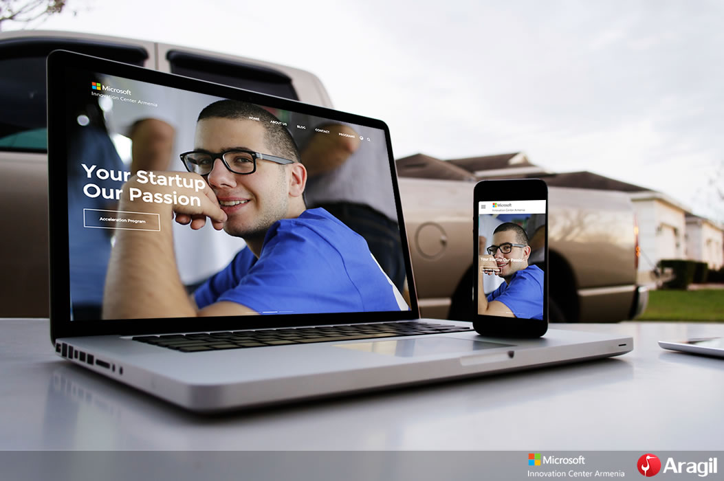 Webdesign for Microsoft Innovation Center Armenia