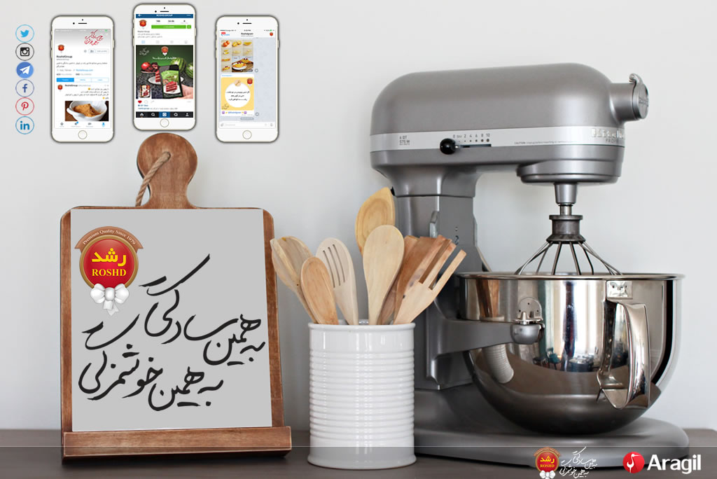 Social Media Marketing for Roshd Group in Iran